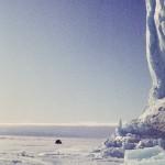 Ice 08 – Antarctica – Field checking Land & Sea Ice Edge, of Jelbart Glacier Antarctica, lifting through Sea Ice.